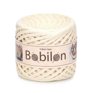 Bobilon Vanilla  t-shirt premium yarn Medium 7-9 mm przędza 100% bawełna