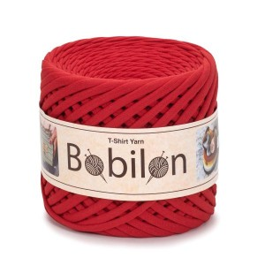 Bobilon LADY IN RED  t-shirt premium yarn Medium 7-9 mm 100% bawełna , włóczka t-shirt lub spaghetti