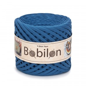 Bobilon BLUE JEANS t-shirt premium yarn Medium 7-9 mm 100% bawełna , włóczka t-shirt lub spaghetti