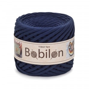Bobilon BLUE SAPPHIRE t-shirt premium yarn Medium 7-9 mm 100% bawełna , włóczka t-shirt lub spaghetti