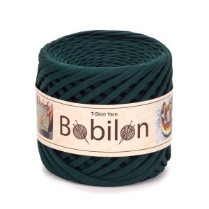 Bobilon ULTRAMARINE GREEN  t-shirt premium yarn Medium 7-9 mm 100% bawełna , włóczka t-shirt lub spaghetti