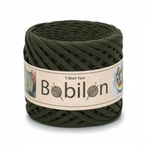 Bobilon MOSS GREEN  t-shirt premium yarn Medium 7-9 mm przędza 100% bawełna