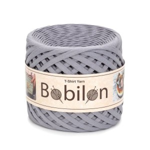Bobilon SPACE GRAY t-shirt premium yarn Medium 7-9 mm 100% bawełna , włóczka t-shirt lub spaghetti