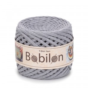 Bobilon GRAY MELANGE  t-shirt premium yarn Medium 7-9 mm przędza 100% bawełna